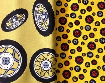Tire Quilting Fabric (2.9 yards combined)