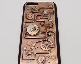 Steampunk iPhone 7 PLUS case. Mobile phone case.  iPhone 7 PLUS  case. iPhone case.