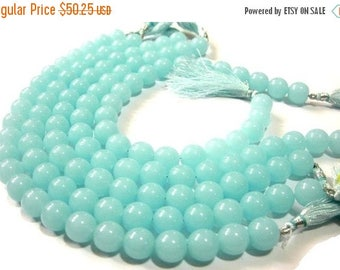 Sale 45% off 1/2 Strand 12mm AAA Aqua Blue Chalcedony Smooth Round Beads Round Polished Beads 12 Pcs