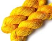 Handdyed Yarn Euro Sock Yarn SW Merino, Sunshine, 435 yards