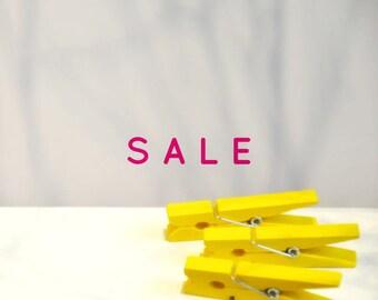 Medium Yellow Pegs {5} | Yellow Pegs | Medium Wood Pegs | Baptism | Gender Neutral |  DIY Supplies Summer Holiday Gift Wrap |SALE