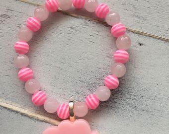 Happy cloud charm bracelet