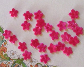 24 Velvet Forget Me Not Flowers Millinery Flower Making Or Scrapbooking Fuchsia Pink