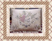 Love Letter--Primitive Stitchery E-PATTERN-by Primitive Stitches-Instant Download