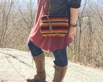date purse  • crossbody bag - honduran textile • red yellow black stripe - honduras - gifts under 50 - simple cross body bag