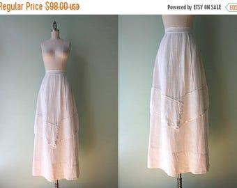 STOREWIDE SALE Antique Skirt / Vintage 1910s White Linen Skirt / World War One Era Antique Skirt S small