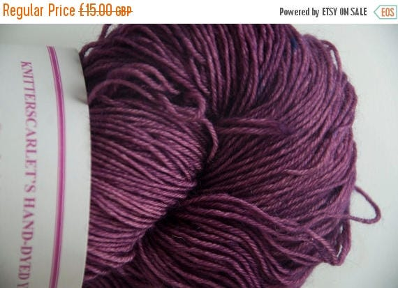 Christmas In July Hand-Dyed Yarn in Violet Voodoo Colourway 4ply Superwash BFL Sturdy Base