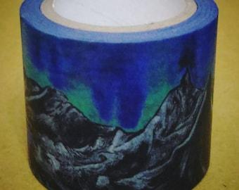 World Shan Shui : Earth Landscape Album - ㄛㄙㄋㄌㄆ = Washi Masking Tape One Roll (40 mm)