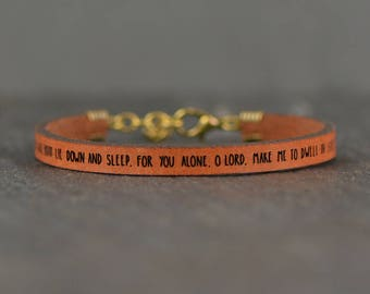 psalms jewelry | psalm 4 | christian gift | engraved scripture | jewelry| bible verse jewelry | christian bracelet | easter jewelry gift