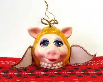 Miss Piggy Christmas Ornament 1979/ Muppet Angel Christmas Decor