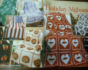 Afghan Crocheting Patterns Holiday Afghans Maggie's Crochet Maggie Weldon Crochet Pattern Leaflet
