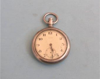 Antique Vintage Pocket Watch Non Working Industrial Steampunk Civitas Pocket Watch