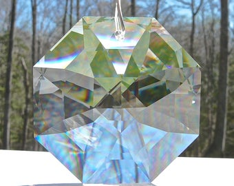 NEW - Swarovski 8115 60mm Octagon Prism, Available in 2nds or Flawless Quality - Fantastic Rainbow Maker - Prism Only