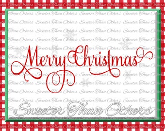 Merry Christmas Svg Silhouette Christmas svg, Dxf Silhouette Studios, Cameo Cricut cut file INSTANT DOWNLOAD, Vinyl Design, Htv Scal Mtc