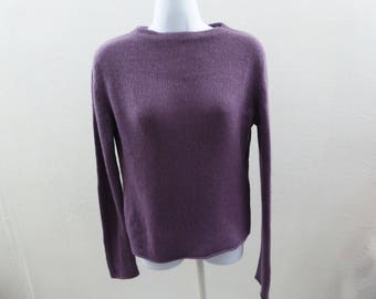 100% Cashmere Sweater Size M Mauve Purple Boat Neck Womens Apostrophe 38 Chest