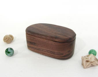 Black Walnut Wood Box, engagement ring box, proposal box, gift for groom, ring bearer box, guitar pick holder, outdoorsy gifts, groom gift