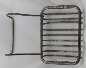 Bathroom Vintage Antique Clawfoot Claw Tub Hanging Nickel Brass Soap Dish Circa 1900 restoration plumbing hardware