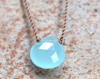 Chalcedony Robin Necklace