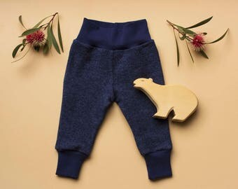 Merino wool fleece baby pants