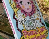 The Peace Love and Understanding Coloring Book, Singleton Hippie Art, Signed Copy, trippy art, coloring pages, hippie posters, hippy