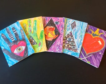5x7 Greeting Card featuring watercolor paintings
