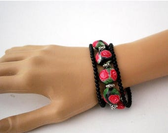 handmade bracelet, Beaded Bracelet, Statement Bracelet, Beaded Jewelry, Bracelets for Women, Ready to Ship, handmade jewelry, gift for her