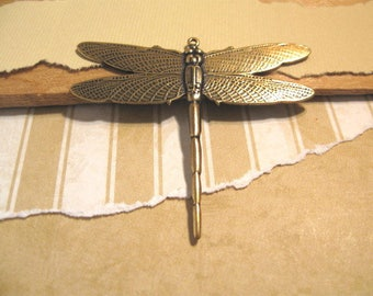 Dragonfly Pendant in Antique Gold