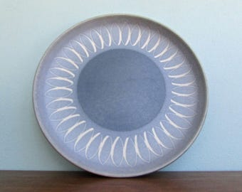 Echo Blue Dinner Plates by Denby Langley Stoneware, Made in England, 5 Available Dinner Plates