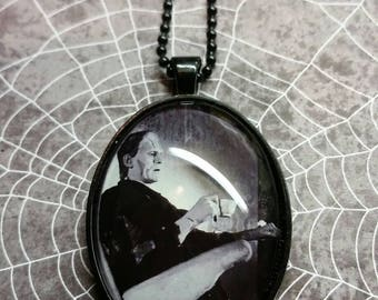 Frankenstein having Tea pendant necklace