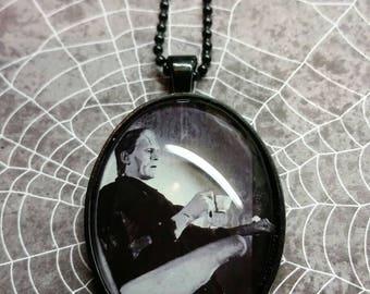 Frankenstein having Tea pendant necklace