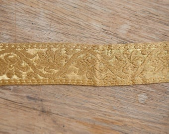 Gold Metallic - Vintage Trim 60s 70s New Old Stock Fun Geometric Bling Holiday