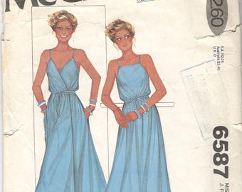 McCalls 6587 7994 1970s Misses Turn About WRAP DRESS Pattern Designer Ma Chemise Womens Vintage Sewing Pattern Size Petite