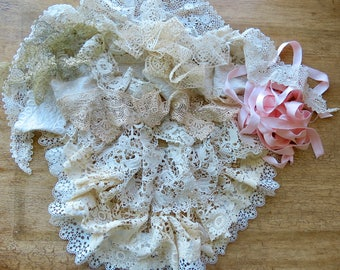 Lovely Collection Of Old Shabby Chic Lace