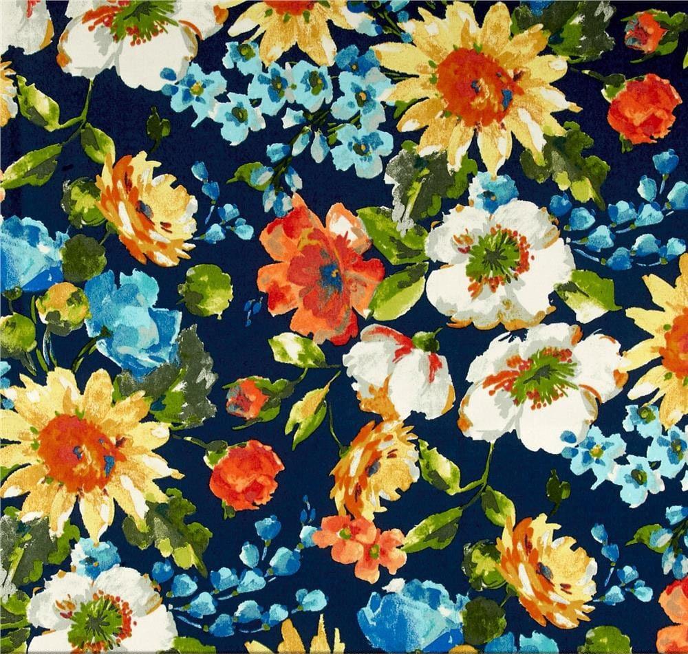 orange floral shower curtain. Dark Blue Shower Curtain  Navy Floral Bathroom Decor Orange