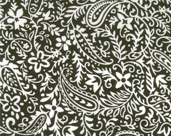 Moda Fabrics Hill Country Spring Paisley in Black  1 yard piece