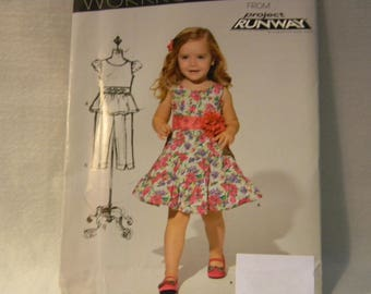 Uncut New Look Pattern 6201 Child's Adorable Sleeveless Dress, Top and Pants