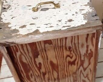 Shabby Chic Distressed Chippy Wooden Box/Drawer - Craft Storage - Fabric Bin Storage