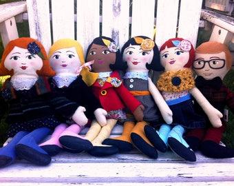 Handmade Cloth Doll, Customizable
