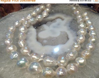 50% Mega Sale 15mm Natural White Nucleus Freshwater Pearls