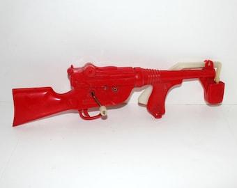 Bubble Gun by Marx, Vintage Rifle Machine Gun Toy Bubble Making