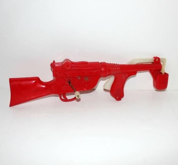 Vintage Bubble Gun by Marx, Rifle Machine Gun Toy Bubble Making
