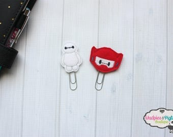 Planner Clip { Baymax } hero character Paper Clips, Stationary, Planner Supplies Birthday party favors, kikkik happy planner