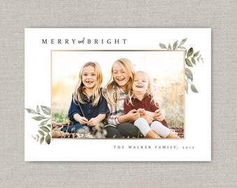 Christmas Greens Photo Card