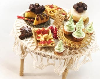Festive  table filled with delicious treats