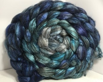 Spinning Fiber Yak Bombyx Silk 50/50 - 5oz - Ocean Depths 2