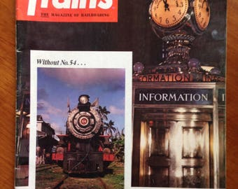 Vintage Trains Magazine GRAND CENTRAL TERMINAL issue dated May 1975