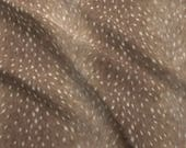 Deer Hide Print Fabric - Soft Deer Hide Fabric In Taupe By Willowlanetextiles - Cotton & Upholstery Fabric By The Yard With Spoonflower