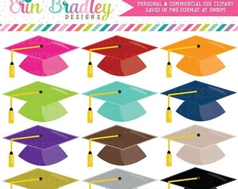 80% OFF SALE Graduation Hat Clipart School Clip Art Instant Download Personal & Commercial Use Digital Graphics