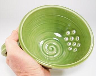 Berry Bowl Sink - Ceramic Colander - Ceramic Berry Bowl - Drainer Dish - Pottery Colander - Colander - Strainer - Berry Colander - InStock