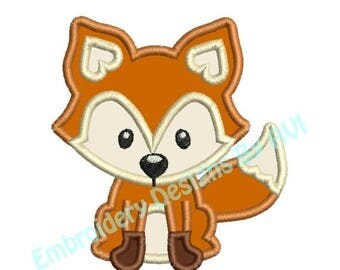 SALE 65% OFF Fox Applique Machine Embroidery Designs 2 Sizes Included 4x4 and 5x7 Instant Download Sale